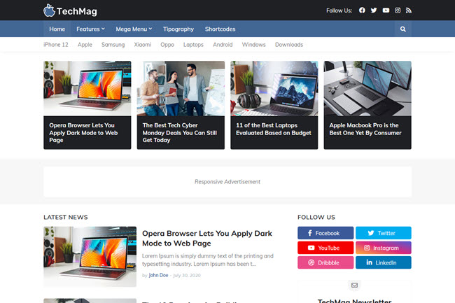 TechMag Blogger Template, Techmag professional premium blogger Template, Techmag Premium Blogger template free download