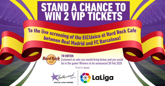 Two VIP ElClásico Live Screening Tickets In Gauteng