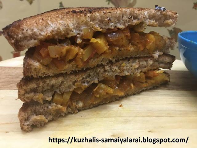 VEGETABLE MASALA BREAD SANDWICH
