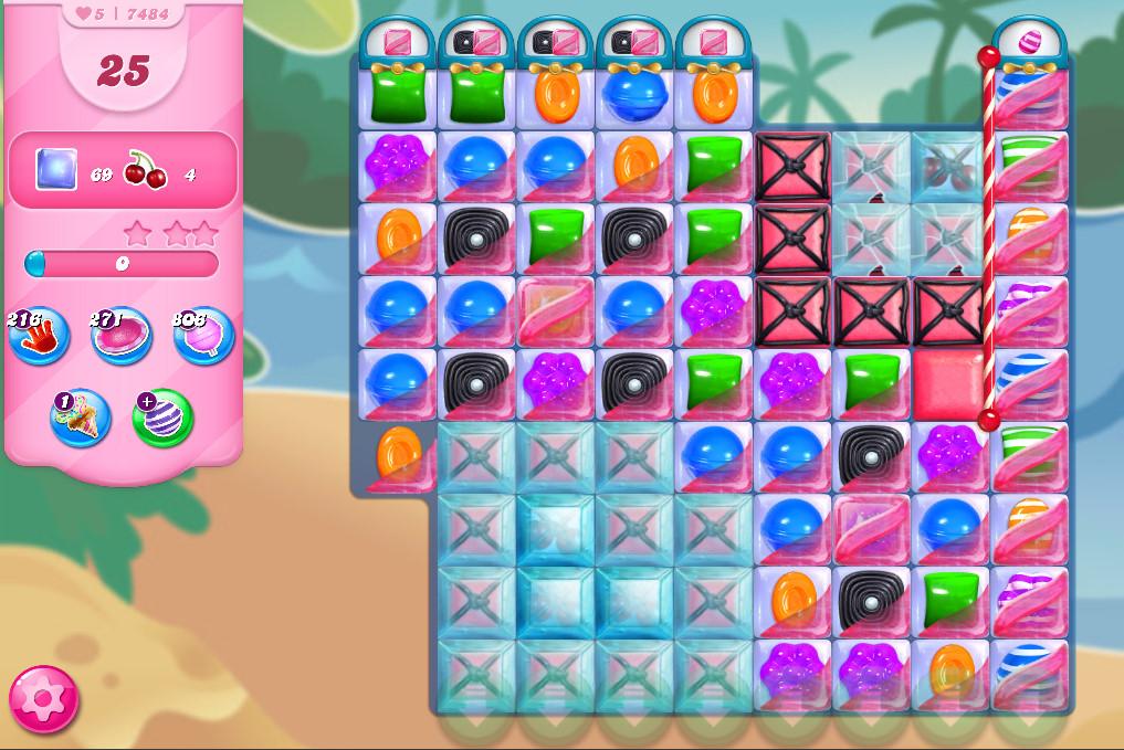 Candy Crush Saga level 7484