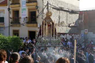 Horario e Itinerario Procesión de la Virgen de la Trinidad por su festividad, Málaga hoy 15 de Junio