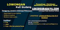 Karir Surabaya di Perusahaan Distributor Aluminium Composite Panel Oktober 2020