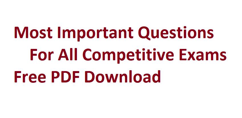 Algebra For Competitive Exams PDF
