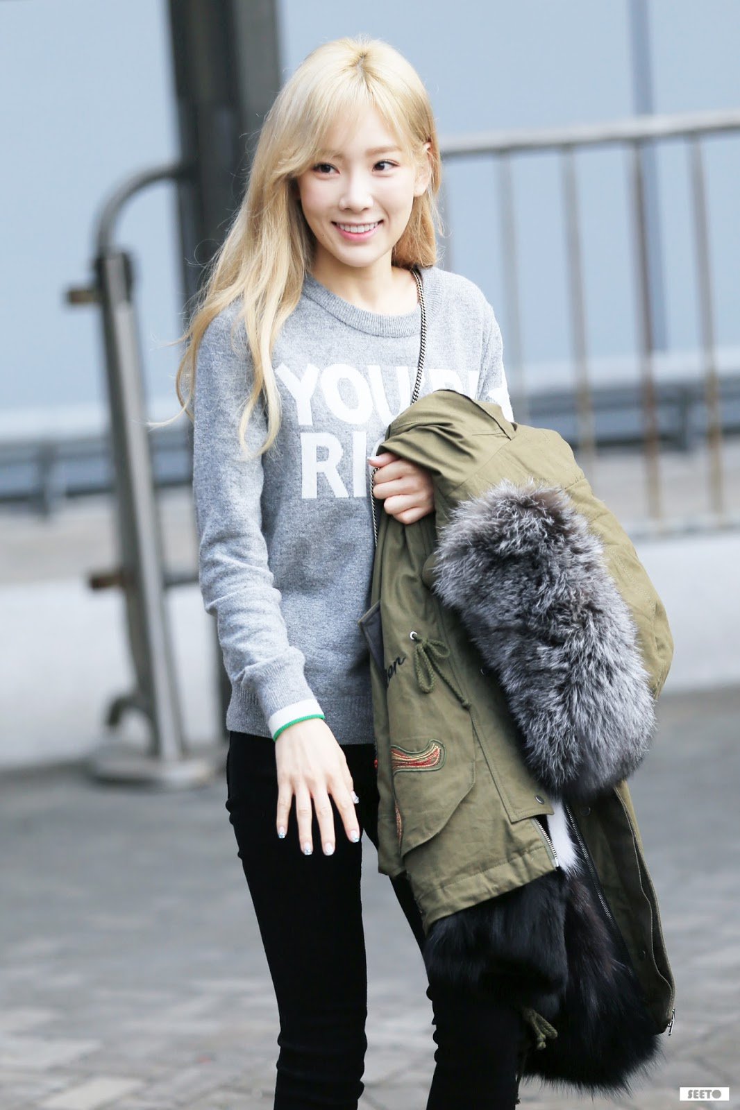Korean Girl Airport Fashion