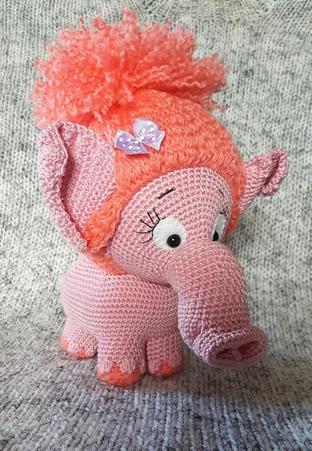 - amigurumi -animal - loomad -crochet - heegeldamine -girl -tüdruk -plika -handmade -käsitöö -mammut - mammoth -troll