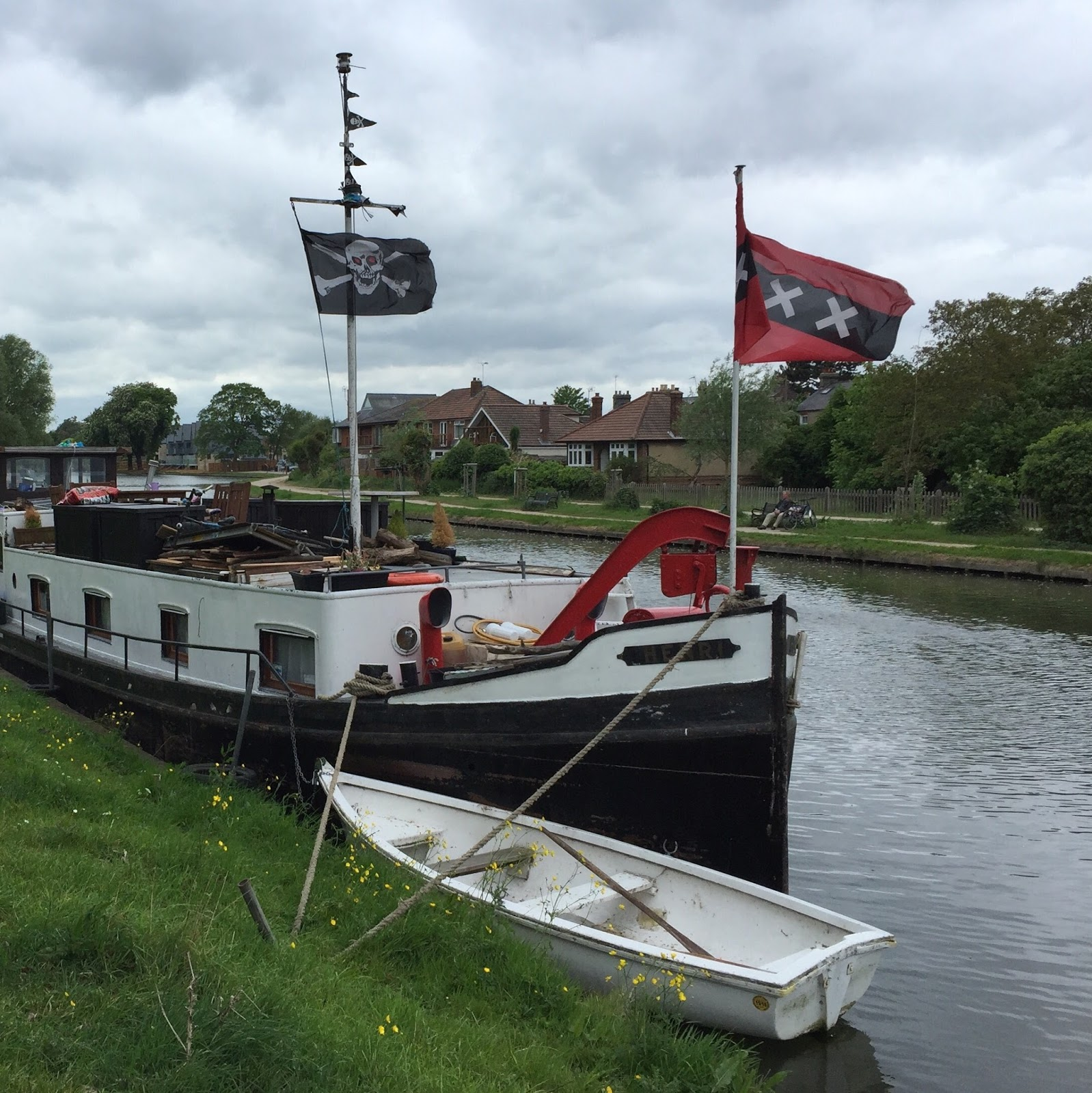 the jolly roger flying on the river cam last week