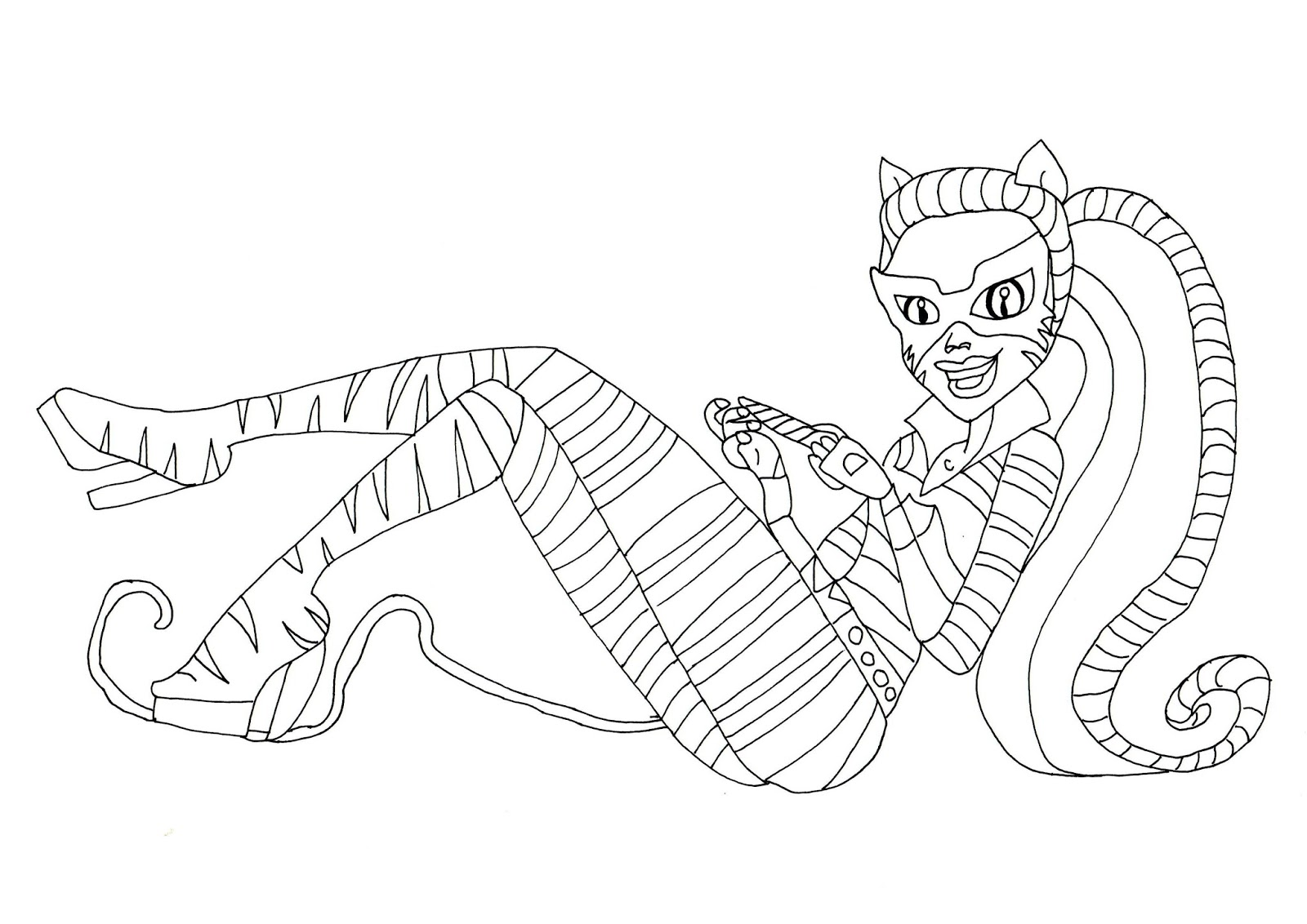 Toralei Stripe Cat Tastrophe Coloring Page Click Here To Print Free Printable Monster High