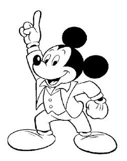 Sketsa Mewarnai Gambar Kartun Mickey Mouse 201613