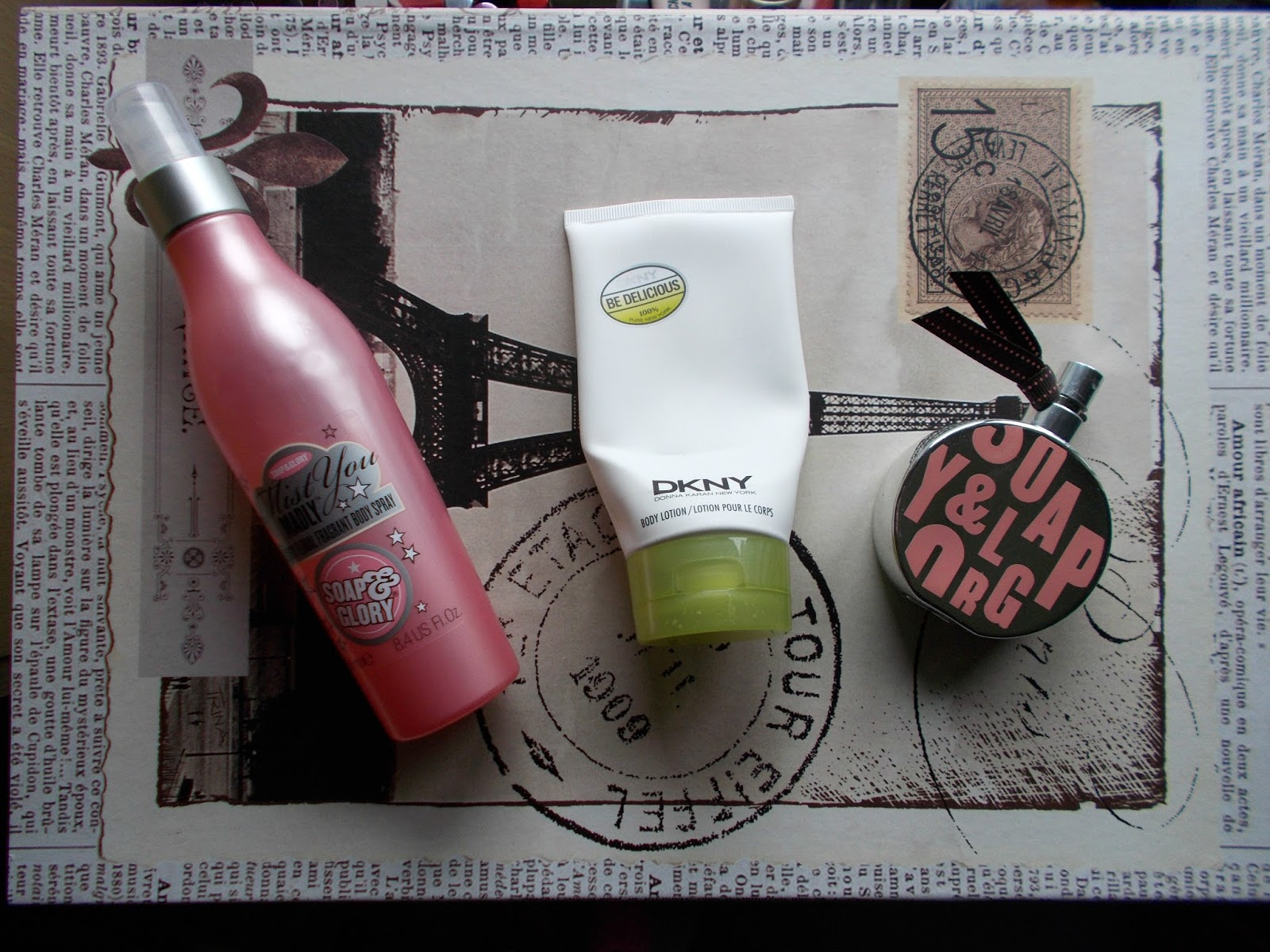 fragrance empties soap and glory original pink mist you madly dkny