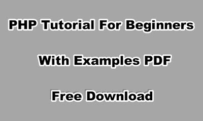 PHP Tutorial For Beginners With Examples PDF Free Download