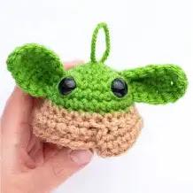 Llavero Grogu a Crochet