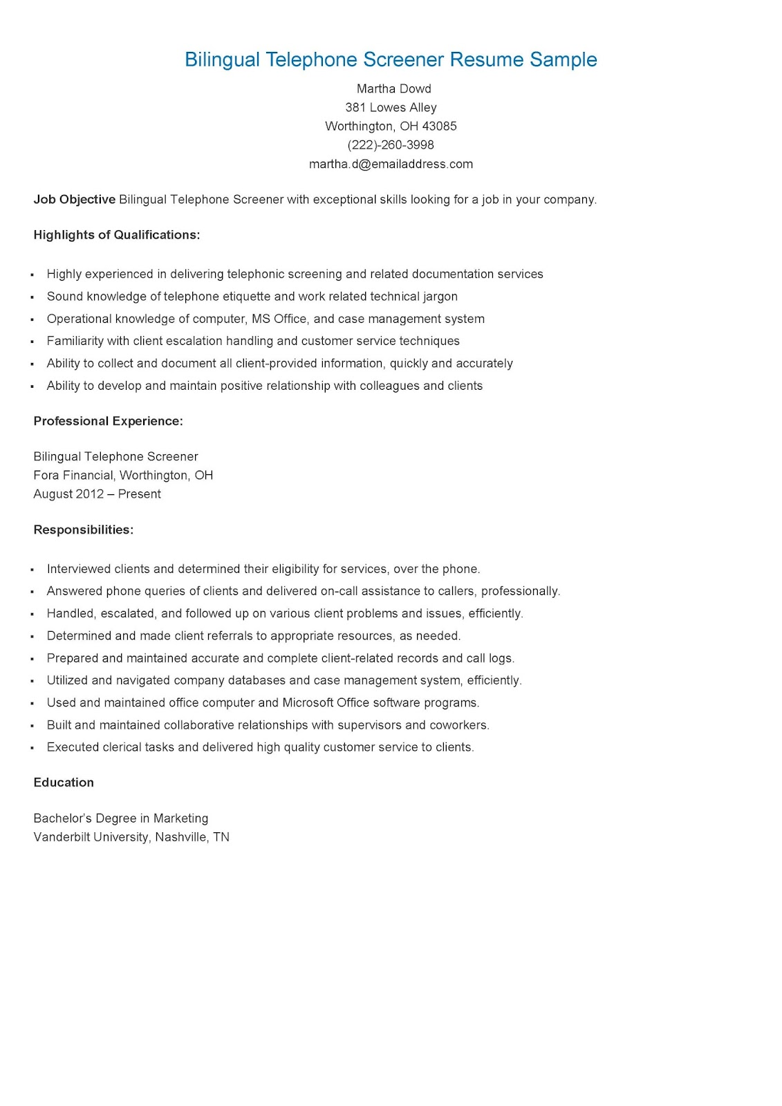 bilingual resume examples bilingual consultant resume sample resume samples bilingual telephone screener resume sample
