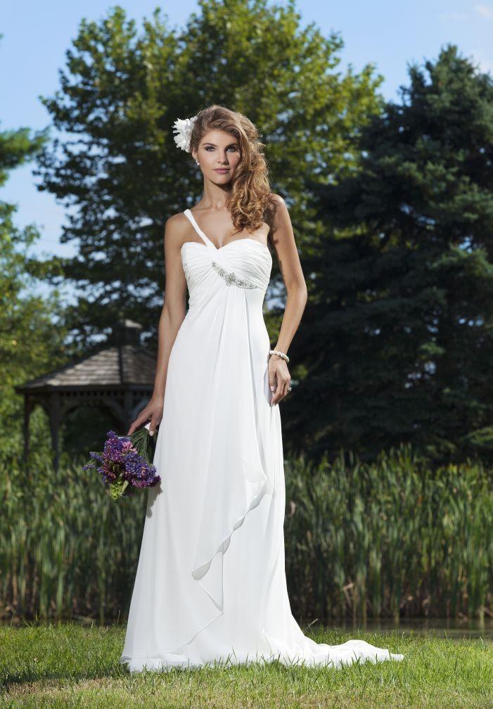 WhiteAzalea Simple Dresses Summer Chiffon Simple Wedding Dresses