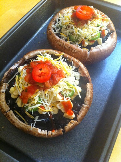 Steam Baked Portobello Black BeanPies