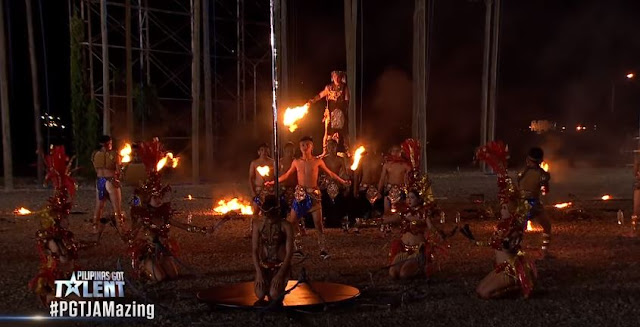Breathtaking and Spectacular Performance Of Dancing Fire Warriors Left The PGT Judges In Awe!