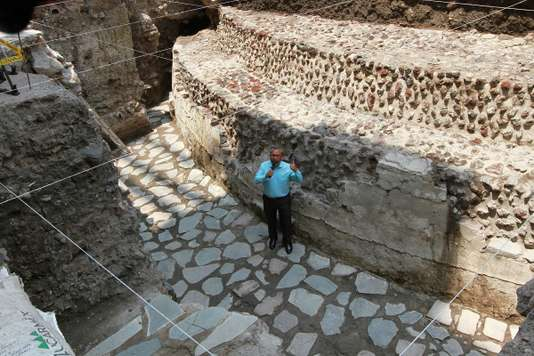 A Mexico, découverte d'un terrain de jeu de balle mortel des Aztèques