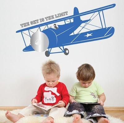 Vintage Airplane Decal: