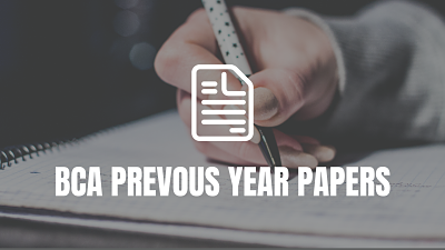 BCA Previous year Papers