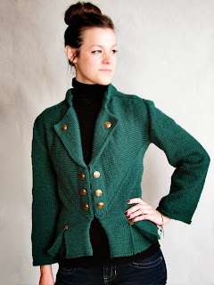 Knitted Military Inspired Multi-Directional Jacket