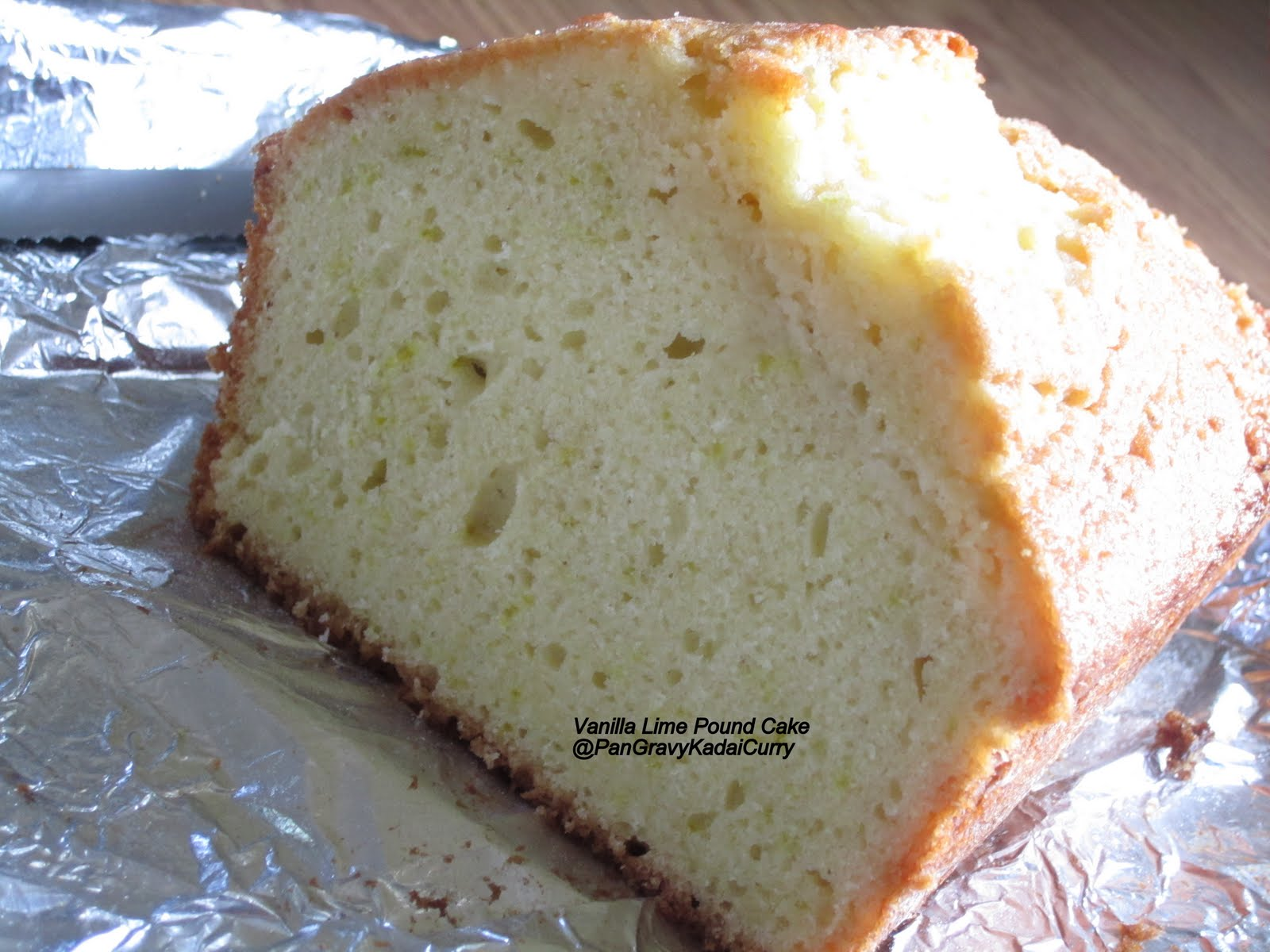 Cake Recipe With Kadai: Pan Gravy Kadai Curry: Vanilla And Lime Pound Cake