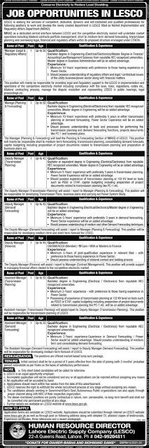 Latest LESCO Jobs 2021 Advertisement | Lahore Electric Supply