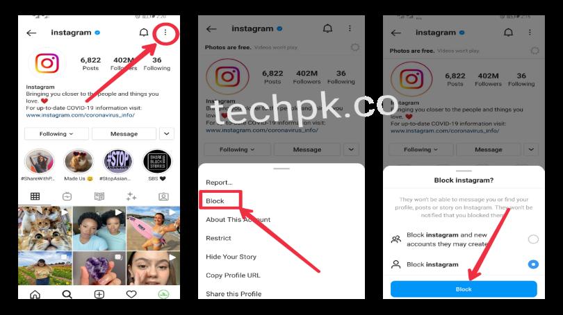 How to Block Instagram Account
