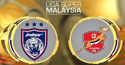 Live Streaming JDT FC vs Kelantan Liga Super 20 September 2017