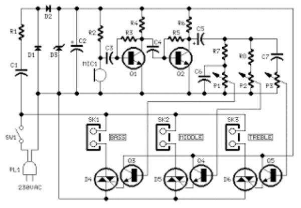 Free Circuit Design Simple Color Organ