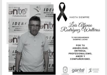 Fallece el instructor Luis Alfonso Vergara Walteros.