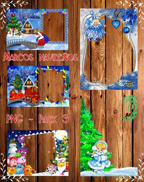 Marcos navideños [PNG] - Pack 3