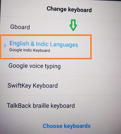 Hindi typing ke liye google indic
