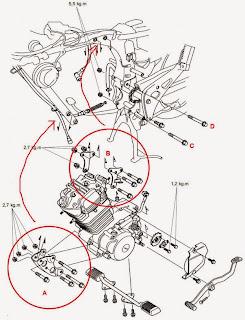 Cara Bongkar mesin megapro Turun mesin Bral bab 4