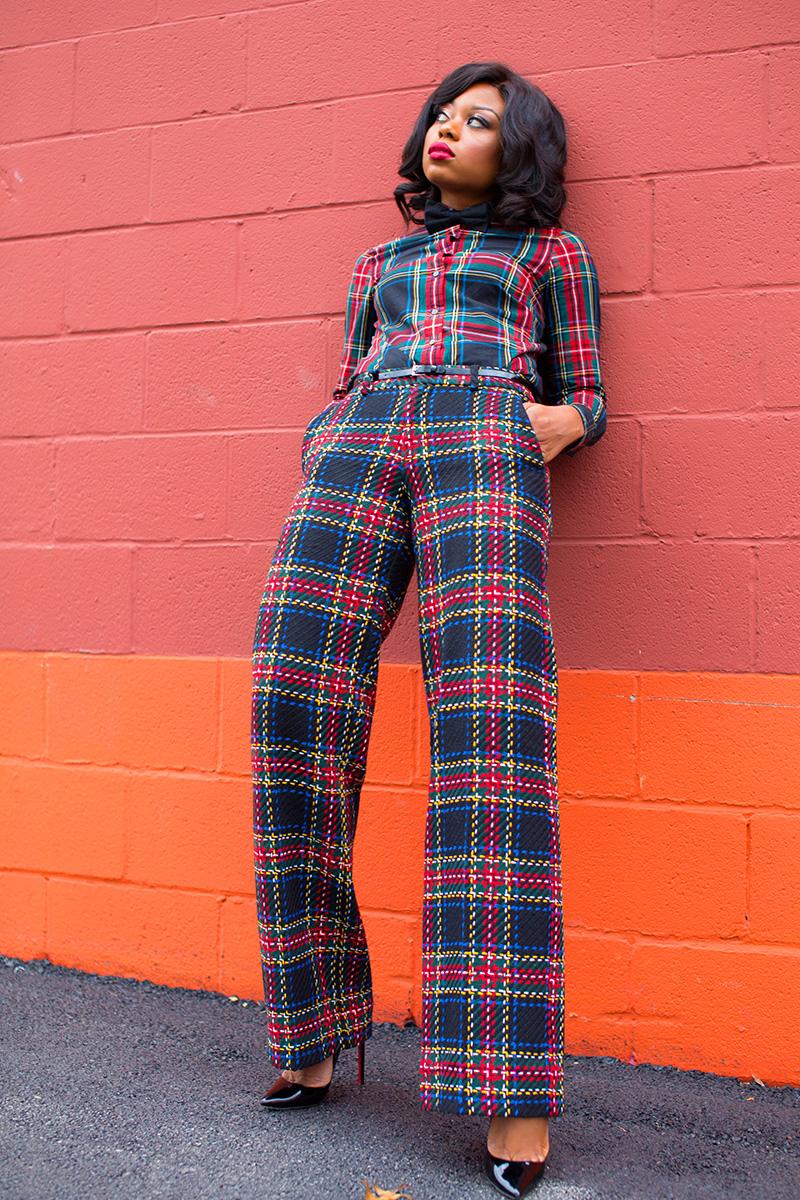 holiday outfit idea, plaid on plaid, www.jadore-fashion.com