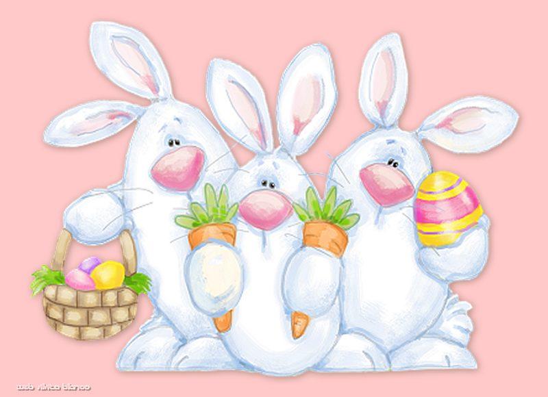 Imagenes Felices Pascuas Conejos Huevos