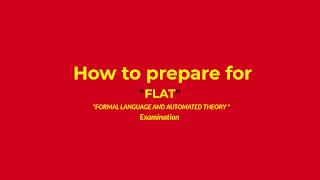 How to pass FLAT JNTUK exam