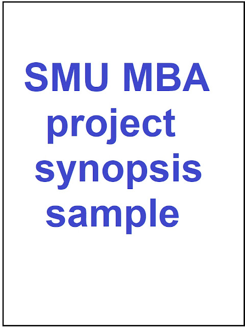smu-mba-project-synopsis-sample
