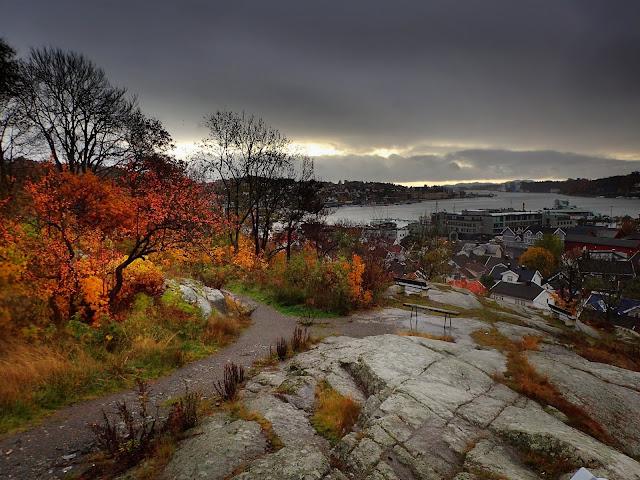 Sandefjord widziane ze wzgórza Prestasen (2019)