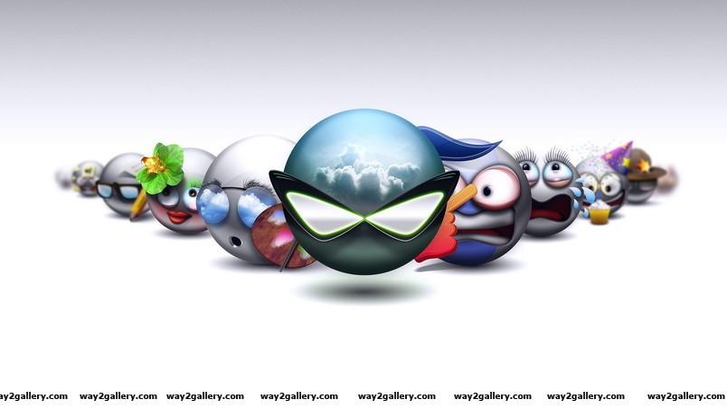 Cool emoticons wallpaper
