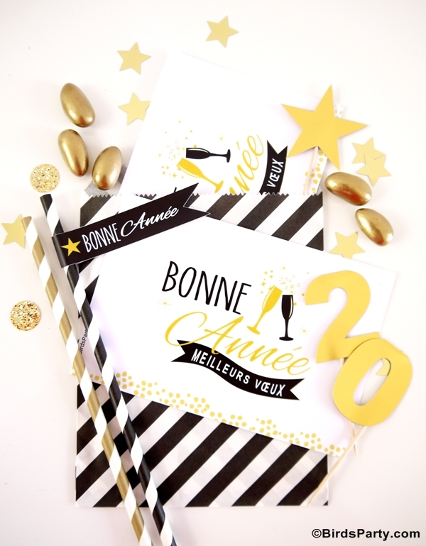 Black White Gold New Year 39 S Eve Party Ideas Party Ideas Party Printables