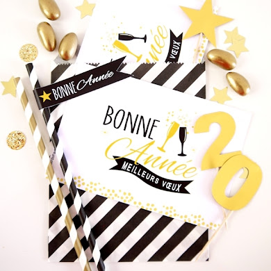 Black, White & Gold New Year's Eve Party Ideas