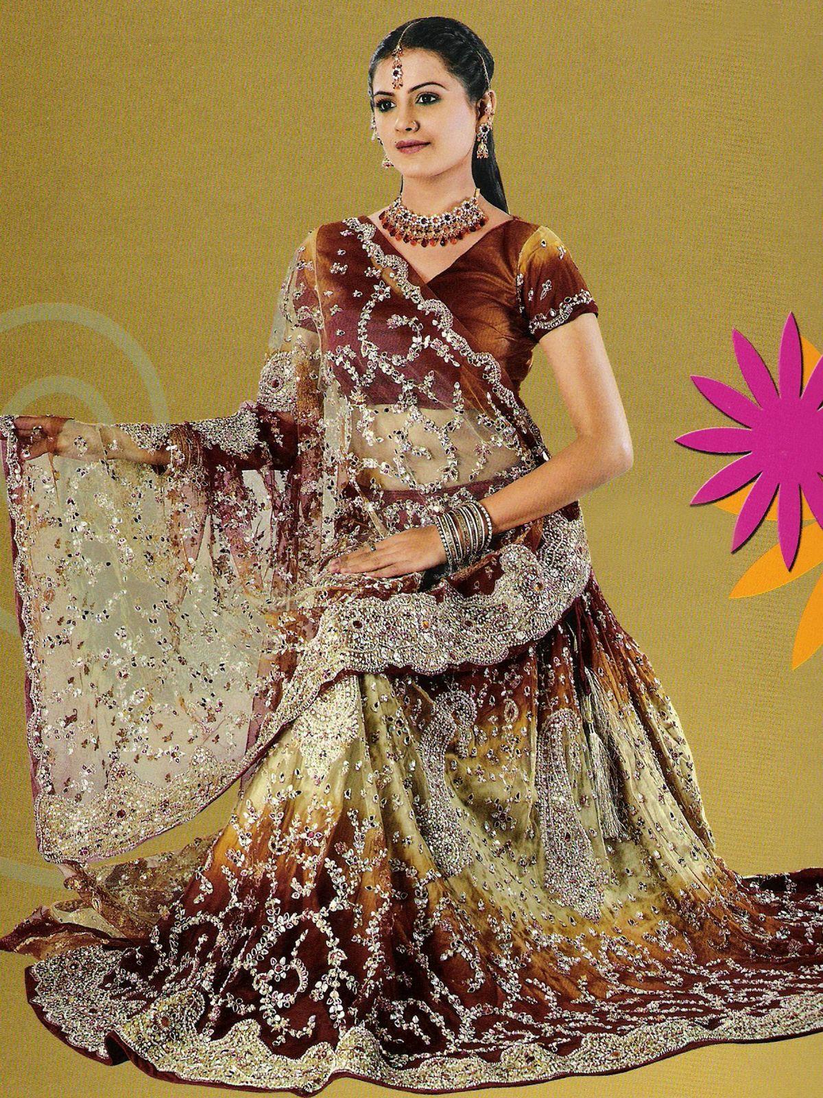 lehenga choli bridal lengha indian lenghas brown latest silver lehnga bronze ref pakistani designs bollywood saree matter pic dresses