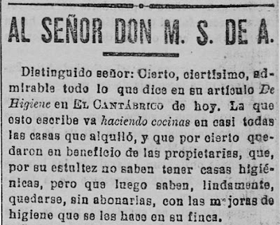 Fragmento de la carta publicada en El Cantábrico (24-5-1905)