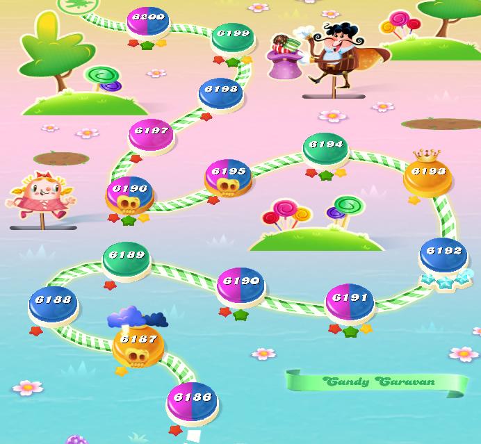 Candy Crush Saga level 6186-6200