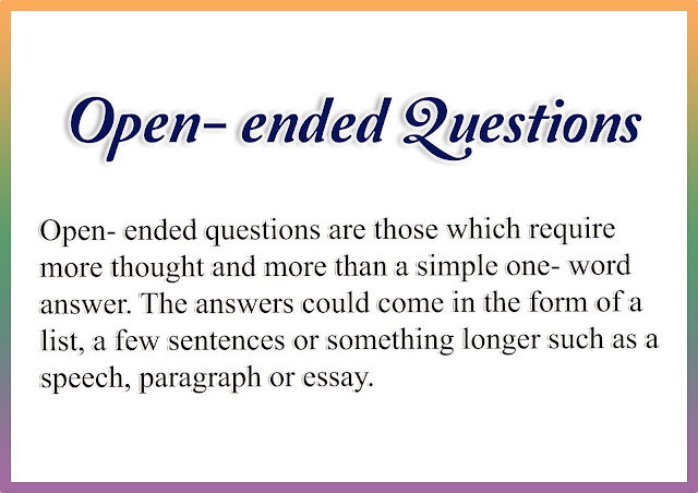 Open and Close-Ended Questions (Research Instrument)