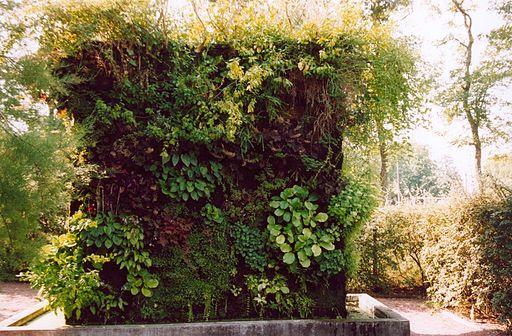 Jardín vertical y fuente de Patrick Blanc