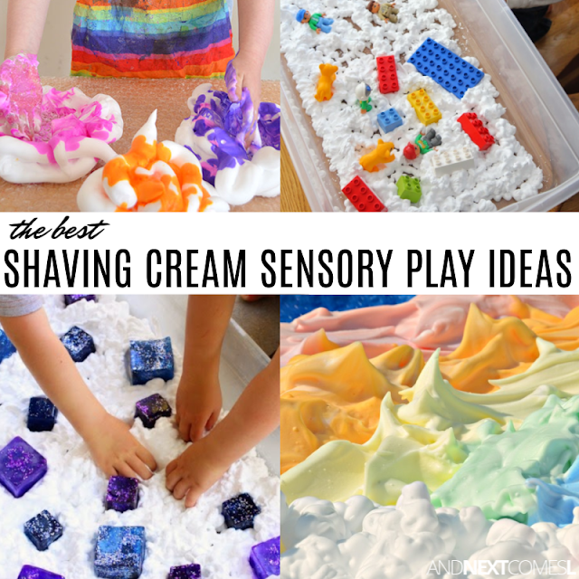 Shaving cream sensory play ideas for kids with autism