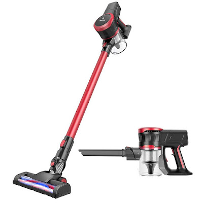 MOOSOO Cordless Vacuum Cleaner, 2 in 1 Stick Vacuum with 17Kpa Ultra-Quiet Powerful Suction, K17