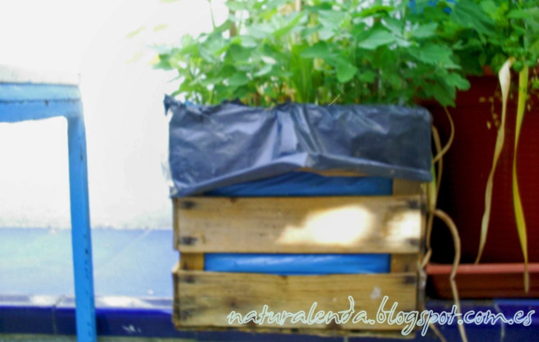 caja jardinera de tablones