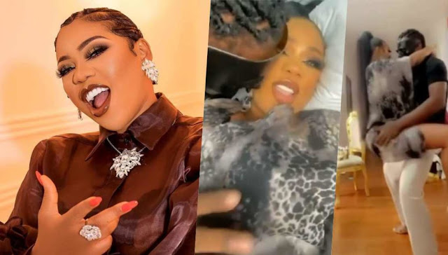 Moment Toyin Lawani and her husband display their love moves on social media (Video)