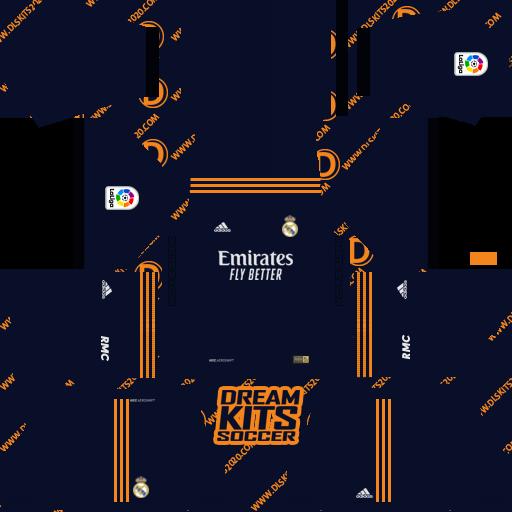 Real Madrid Kits 2020-2021 Adidas - Kit Dream League Soccer 2019 (Away)